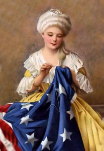 Betsy-Ross sewing